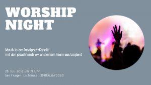 Worship-Night @ Kulturkapelle im Inselpark | Hamburg | Hamburg | Deutschland